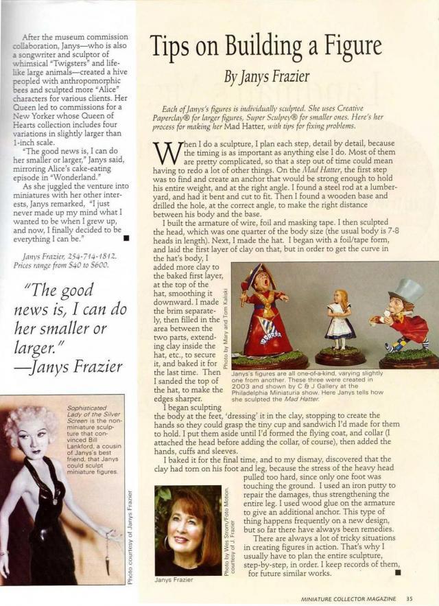 Article in Miniature Collector Magazine